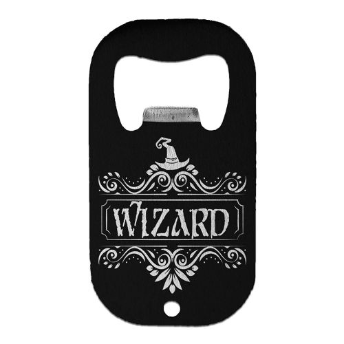 RPG Fantasy Character Class Wizard Funny Stainless Steel Beer Bottle Opener - Small